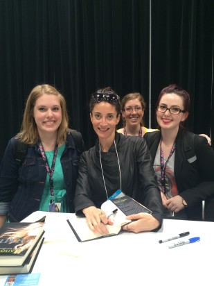 Emilie, me, and Katherine with Lauren Oliver! (Emilie's photo)